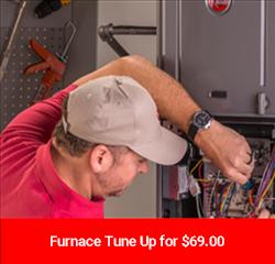 Man tuning up a furnace