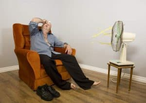 Sweating Guy-No AC