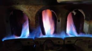 Gas Furnace Orange Flame